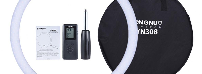 A Yongnuo YN308 LED kör fény - Bi-color kör alakú, távirányítós LED lámpa