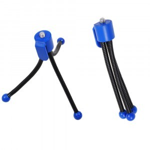 Flexibilis mini tripod kék